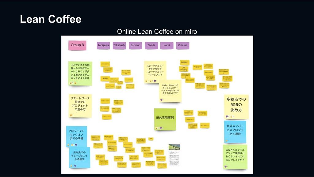 Lean Coffee Online Lean Coffee on miro