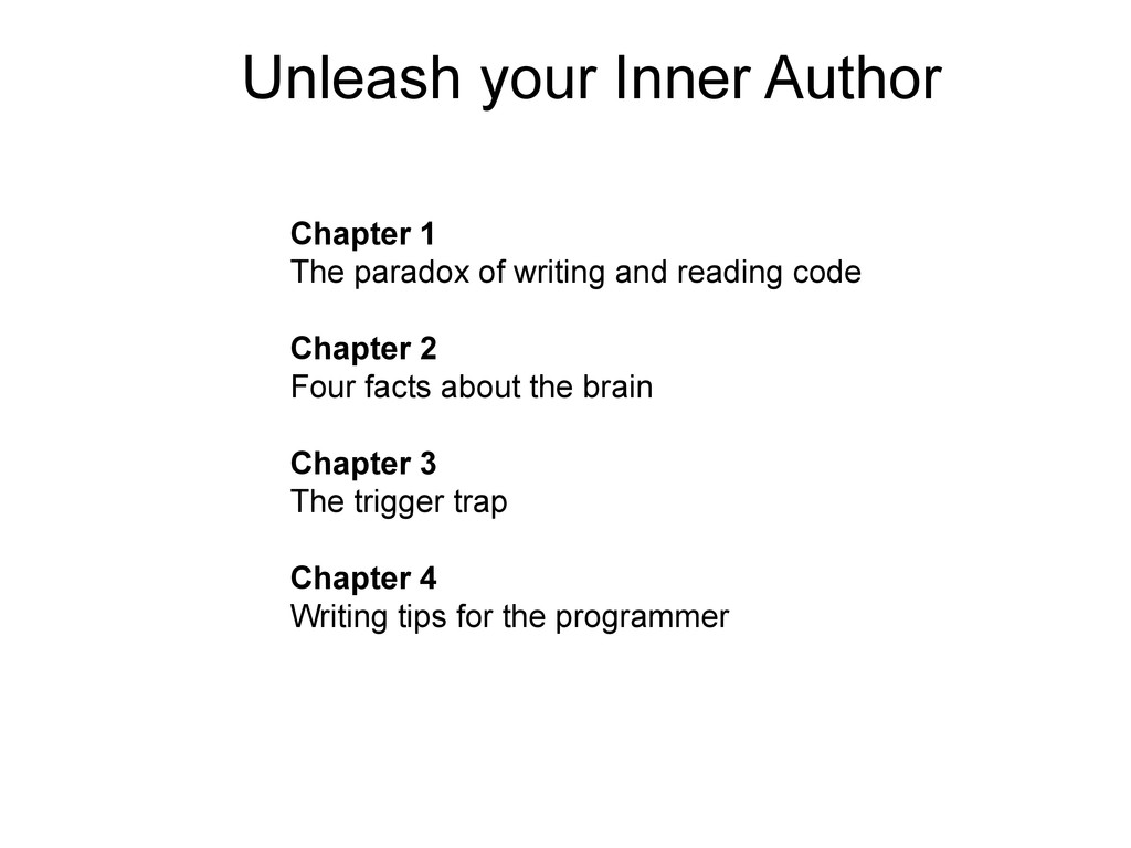 Unleash your Inner Author Chapter 1 The paradox...