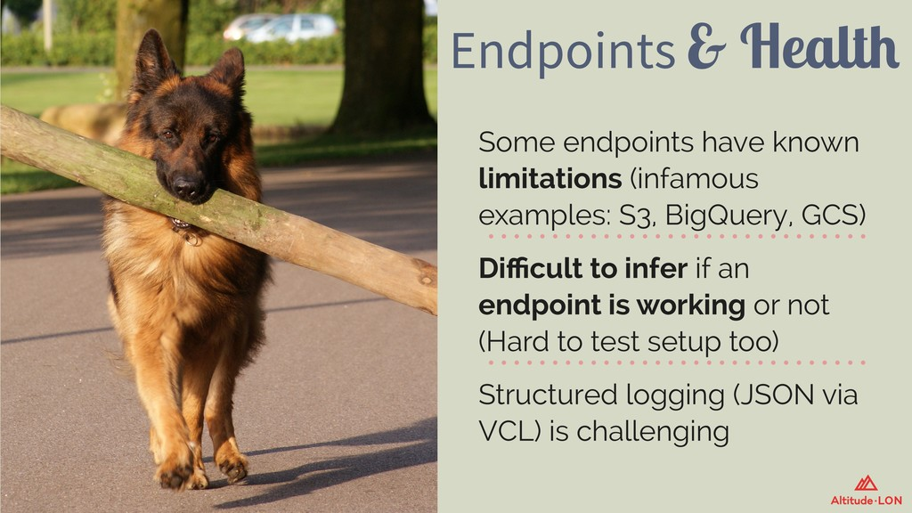 Endpoints & Health Some endpoints have known li...