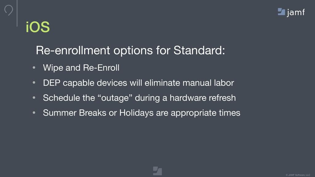 © JAMF Software, LLC iOS Re-enrollment options ...