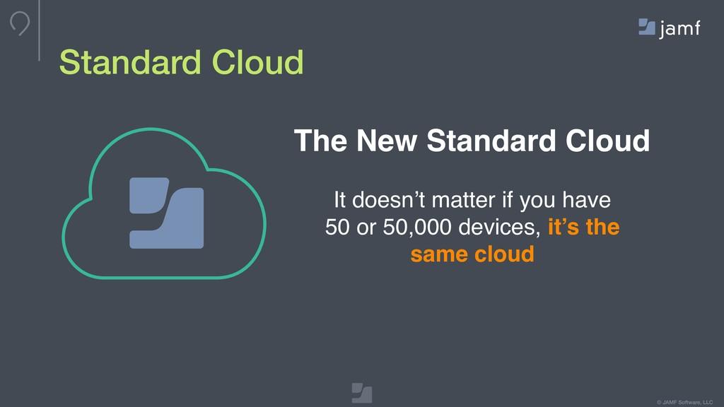 © JAMF Software, LLC Standard Cloud It doesn't ...