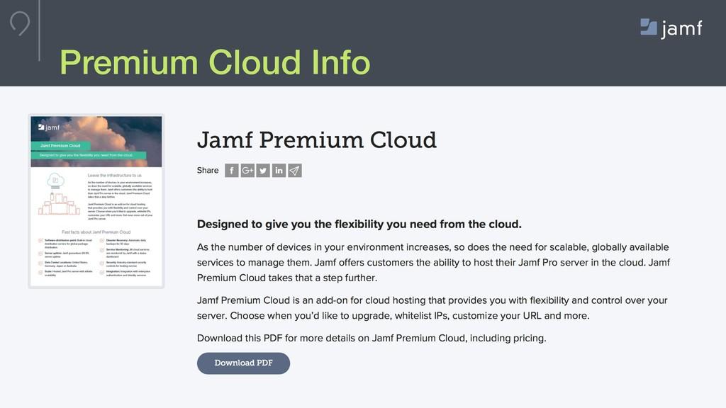 © JAMF Software, LLC Premium Cloud Info
