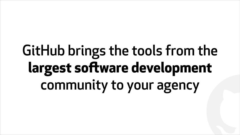 ! GitHub brings the tools from the largest soft...