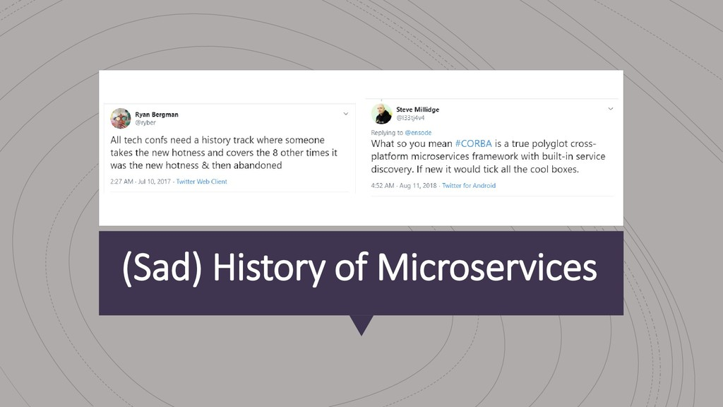 (Sad) History of Microservices