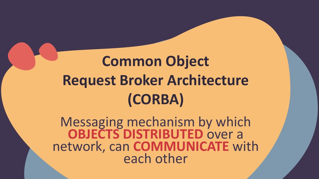 Messaging mechanism by which OBJECTS DISTRIBUTE...
