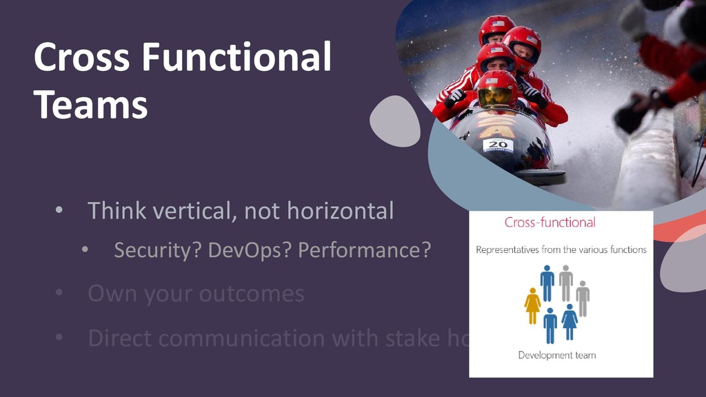 • Think vertical, not horizontal • Security? De...