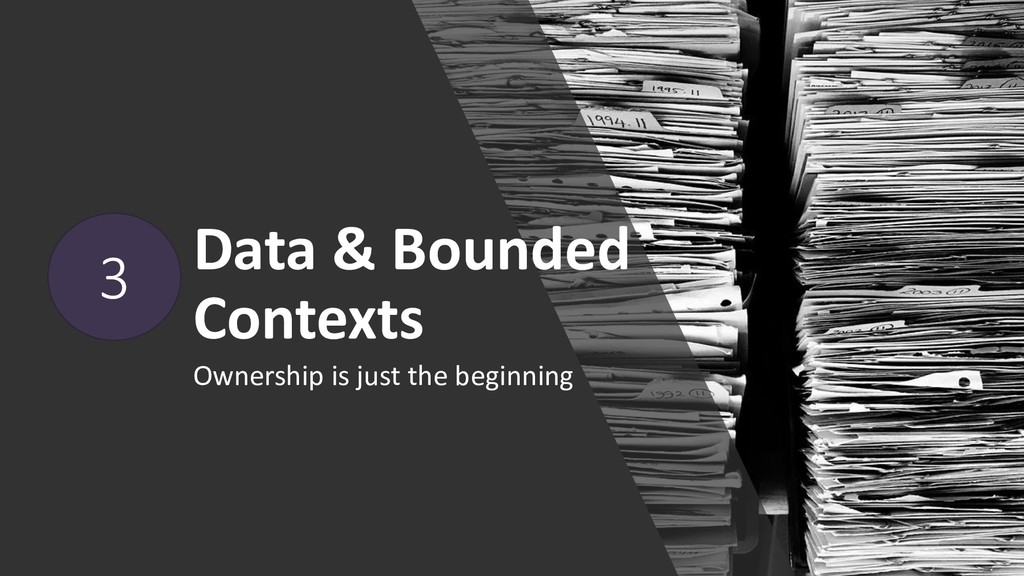 Data & Bounded Contexts Ownership is just the b...