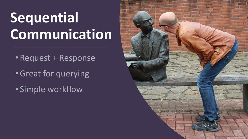 Sequential Communication •Request + Response •G...