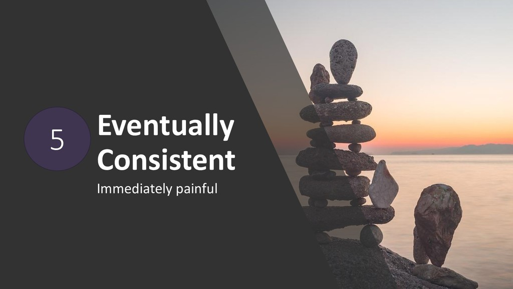 Eventually Consistent Immediately painful 5