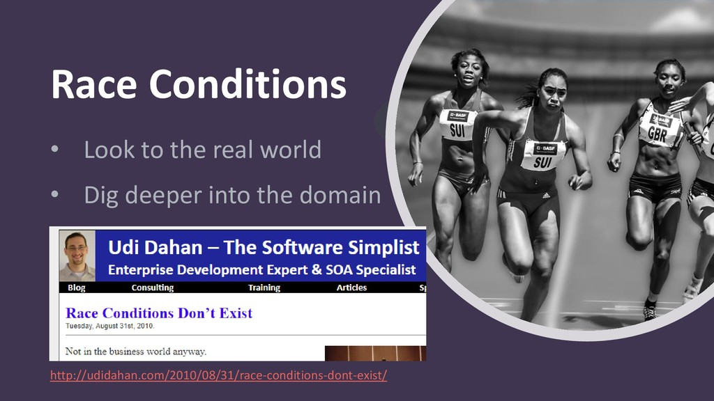 Race Conditions • Look to the real world • Dig ...