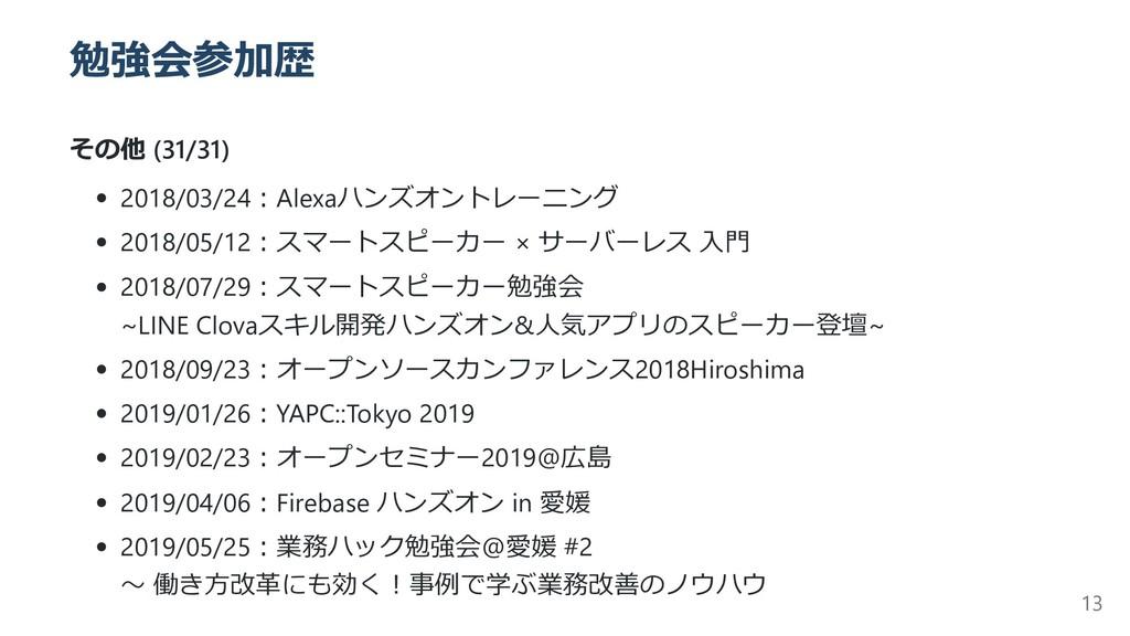 勉強会参加歴 その他 (31/31) 2018/03/24︓Alexaハンズオントレーニング ...