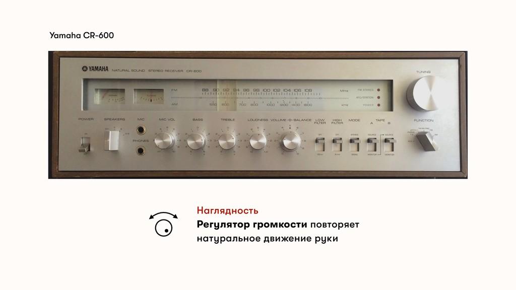 Yamaha CR-600 Наглядность Регулятор громкости п...