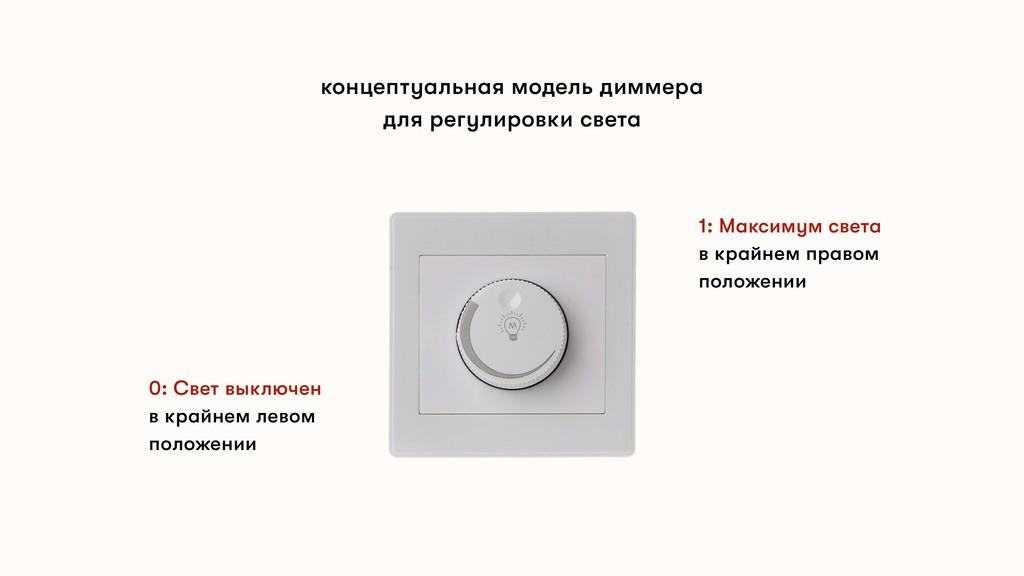 концептуальная модель диммера для регулировки с...