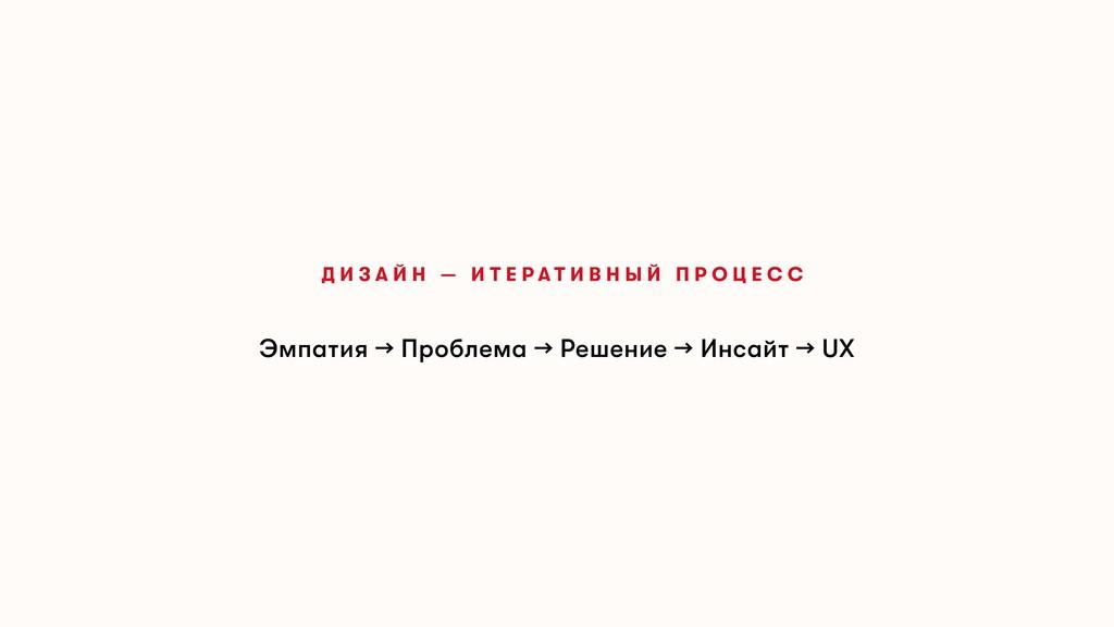 Эмпатия → Проблема → Решение → Инсайт → UX Д И ...