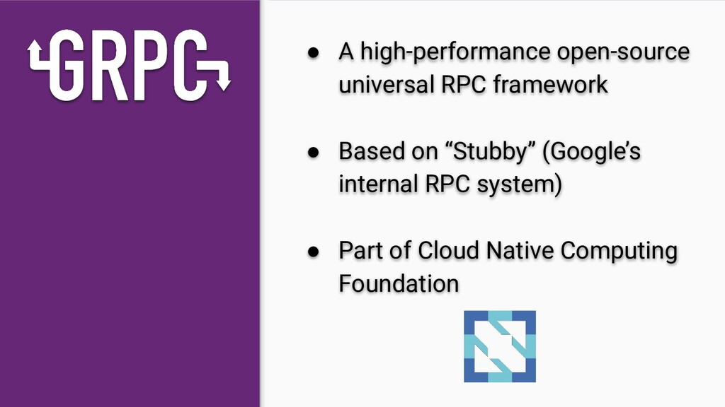 ● A high-performance open-source universal RPC ...