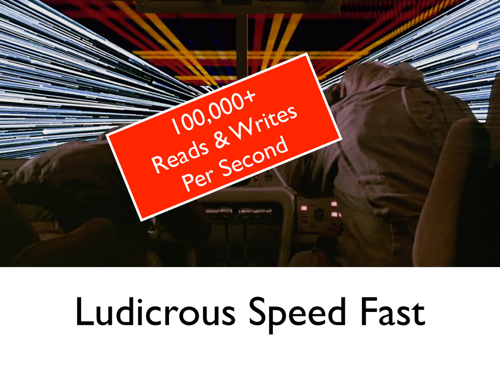 Ludicrous Speed Fast 100,000+	 