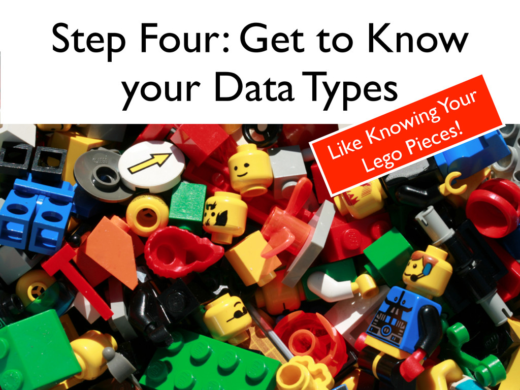 Step Four: Get to Know  your Data Types Like K...