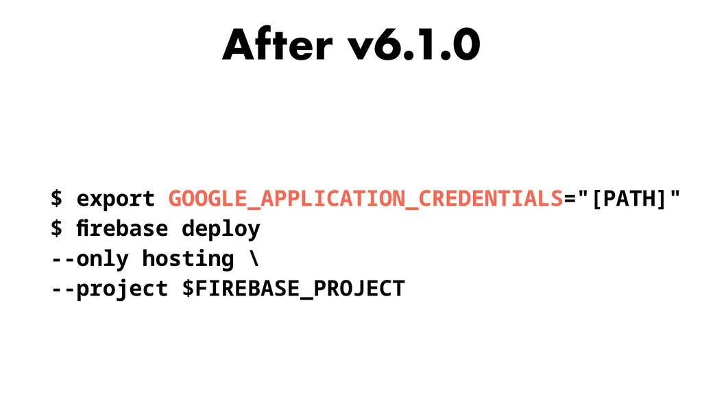 After v6.1.0 $ export GOOGLE_APPLICATION_CREDEN...