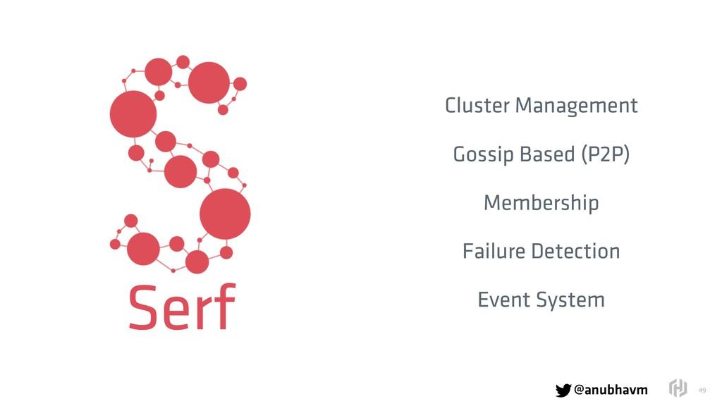@anubhavm  !49 Cluster Management Gossip Based...