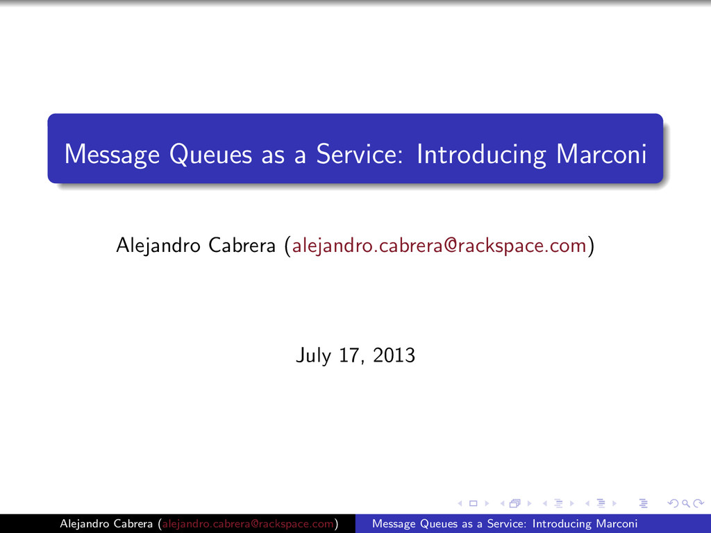 Message Queues as a Service: Introducing Marcon...
