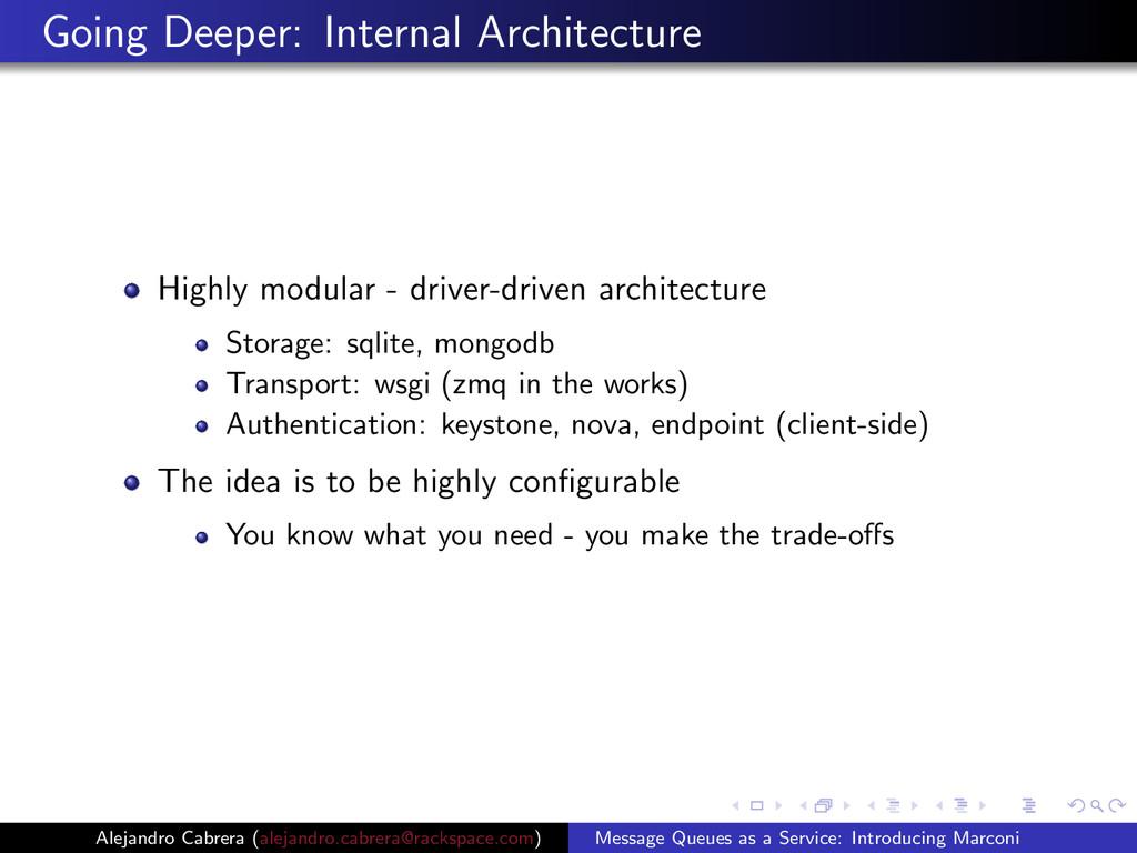 Going Deeper: Internal Architecture Highly modu...