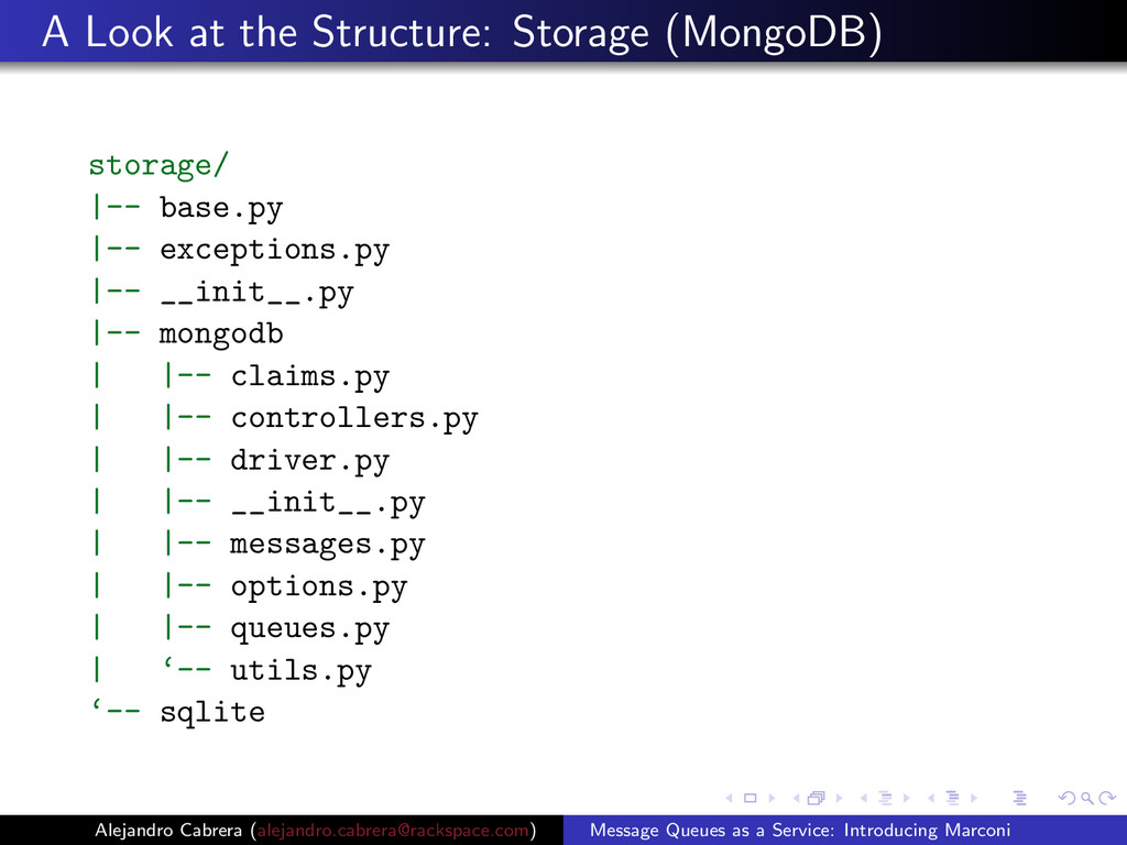 A Look at the Structure: Storage (MongoDB) stor...
