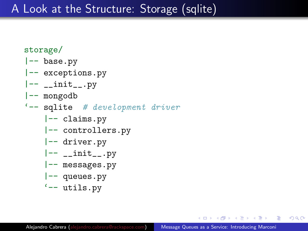 A Look at the Structure: Storage (sqlite) stora...