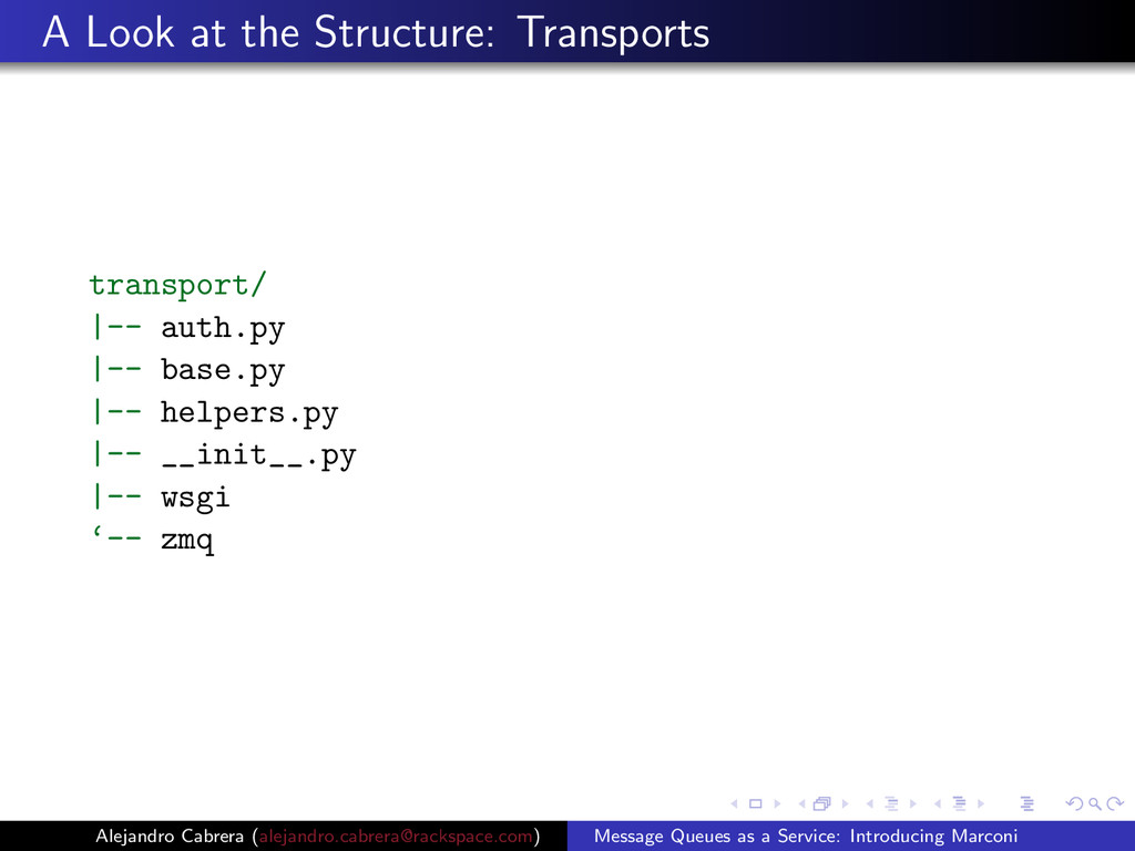 A Look at the Structure: Transports transport/ ...