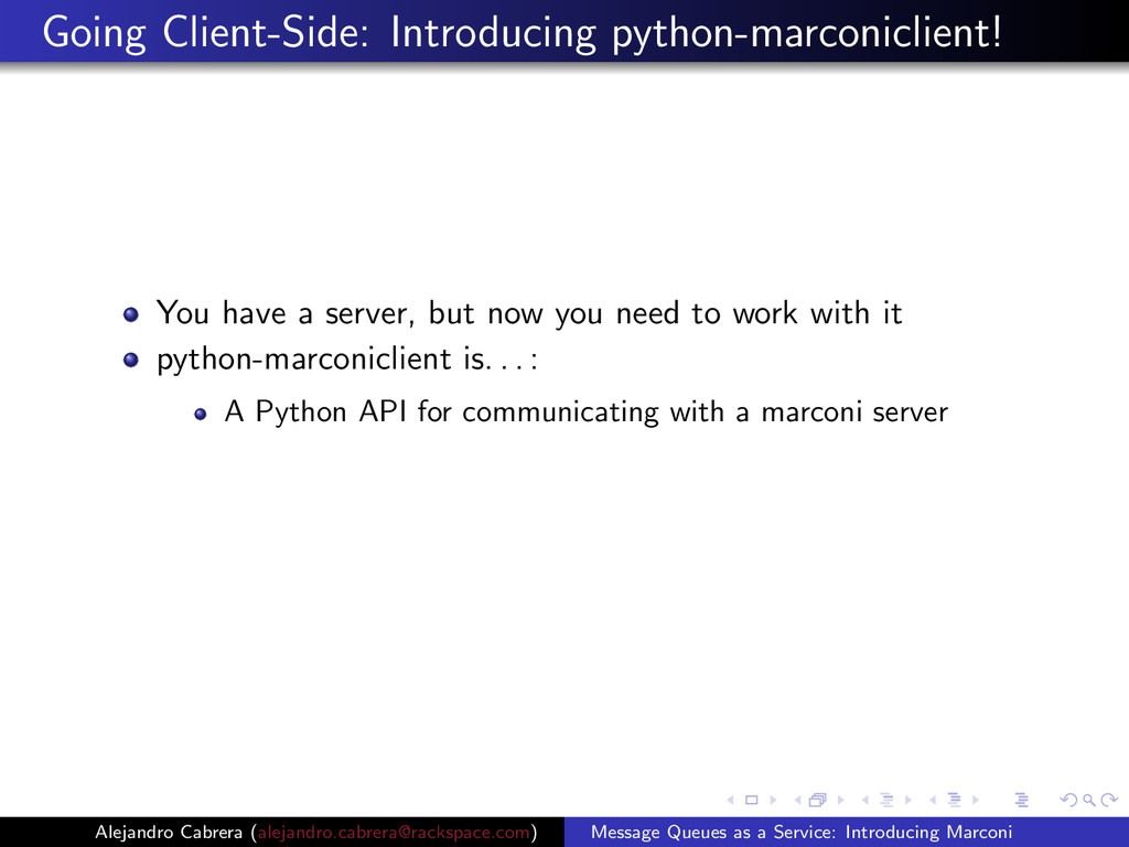 Going Client-Side: Introducing python-marconicl...