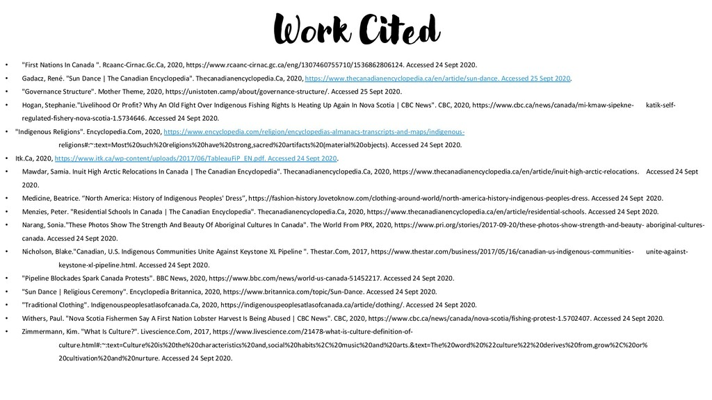 """Work Cited • """"First Nations In Canada """". Rcaanc..."""
