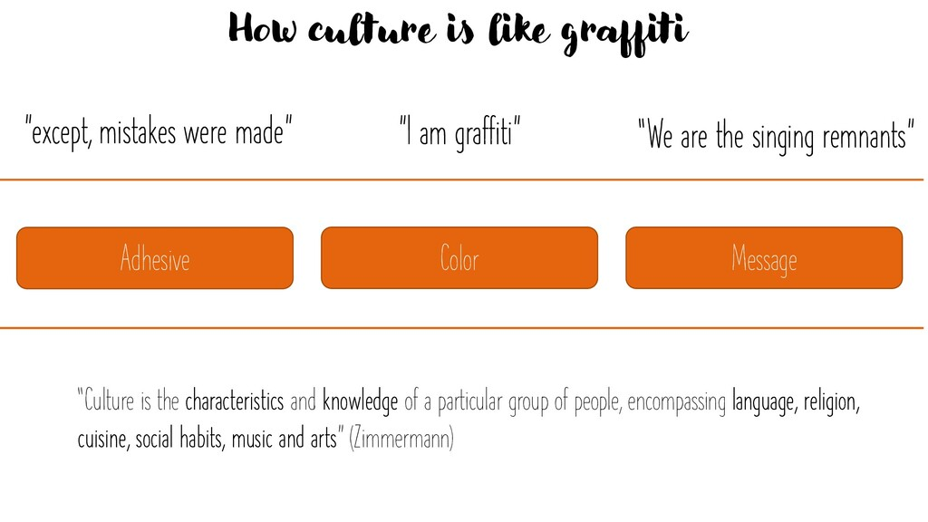"""""""I am graffiti"""" """"except, mistakes were made"""" Ho..."""