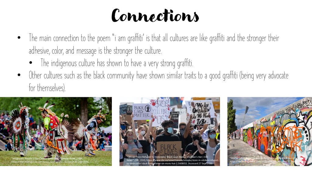 """Connections • The main connection to the poem """"..."""