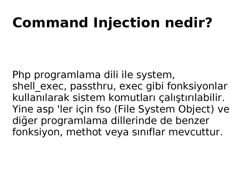 Command Injection nedir? Php programlama dili i...