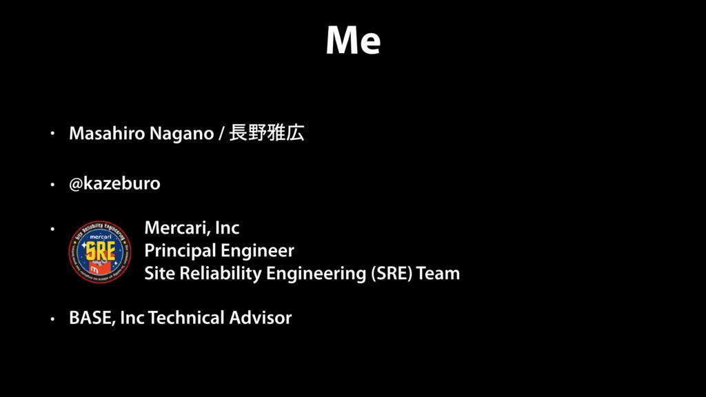 Me • Masahiro Nagano / խ • @kazeburo • Merca...