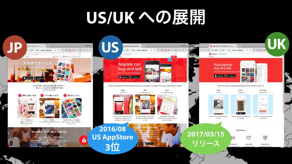 US/UK ͷల։ JP 2016/08 US AppStore 3Ґ US UK 2017...
