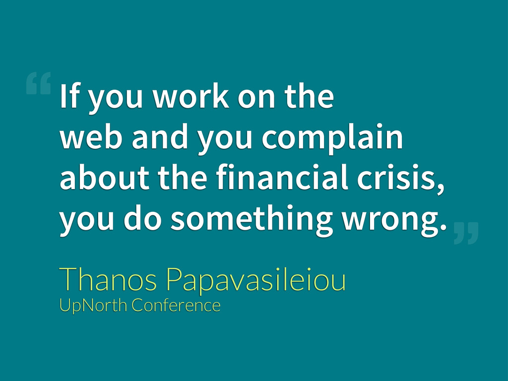 If you work on the web and you complain about t...