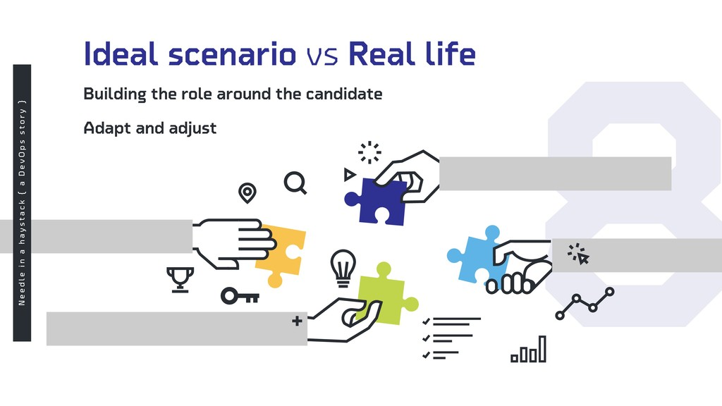 8 Ideal scenario vs Real life Building the role...