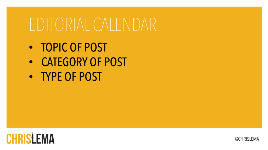 • TOPIC OF POST • CATEGORY OF POST • TYPE OF PO...