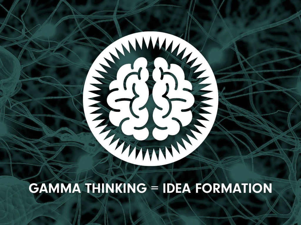 GAMMA THINKING = IDEA FORMATION