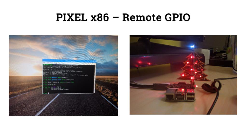 PIXEL x86 – Remote GPIO