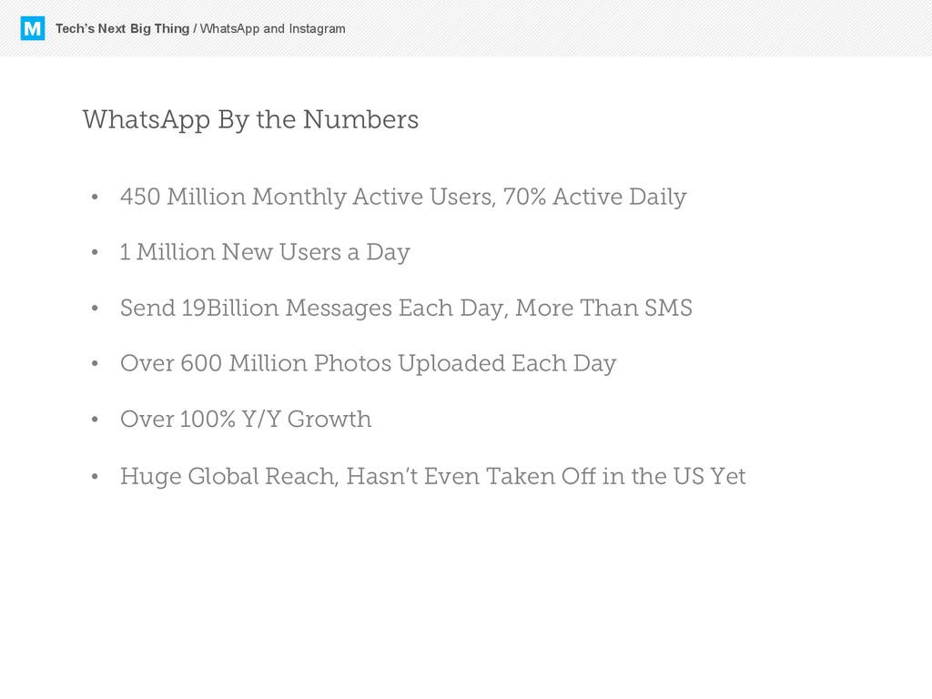 M Tech's Next Big Thing / WhatsApp and Instagra...