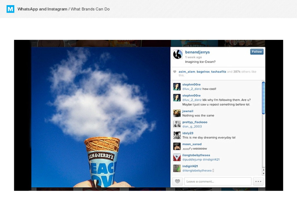 M WhatsApp and Instagram / What Brands Can Do
