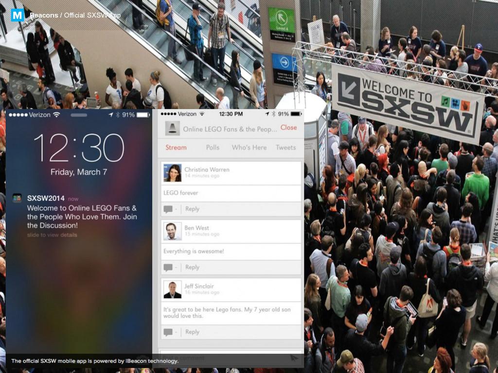 Beacons / Official SXSW App M