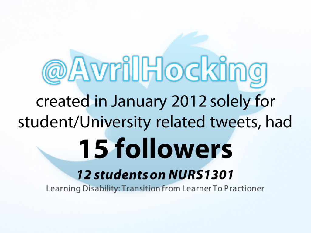 created in January 2012 solely for student/Univ...