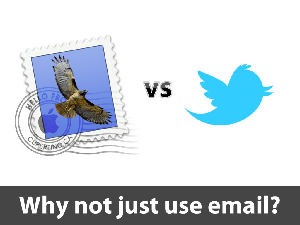 Why not just use email?