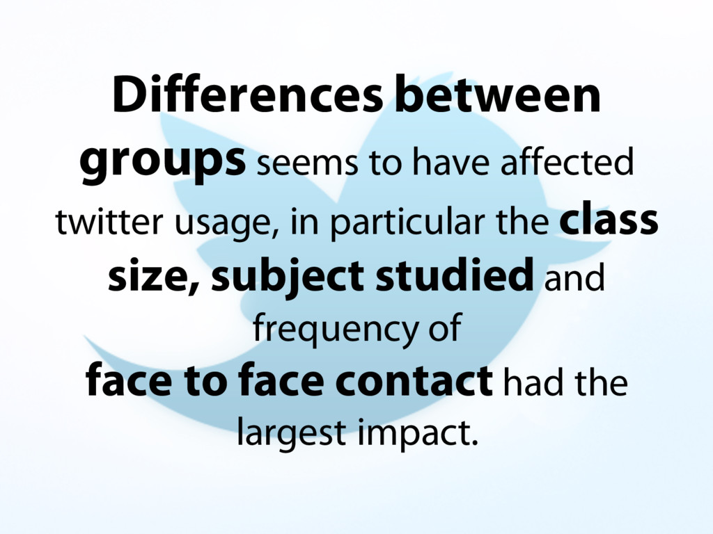 Differences between groups seems to have affect...