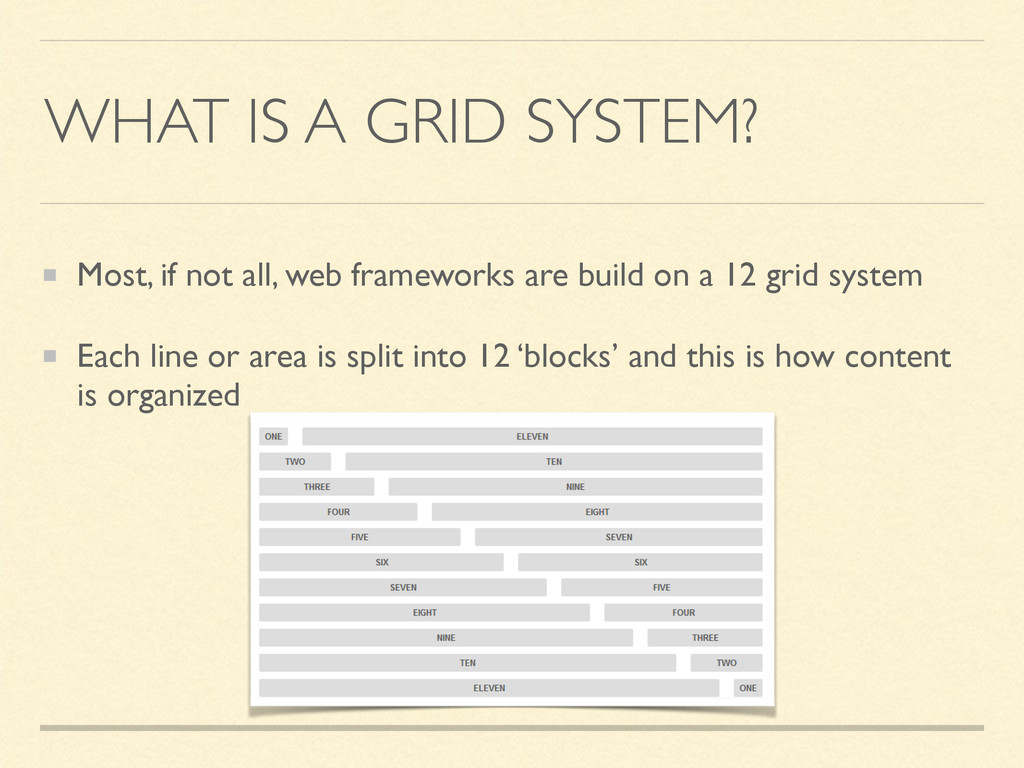 WHAT IS A GRID SYSTEM? Most, if not all, web fr...