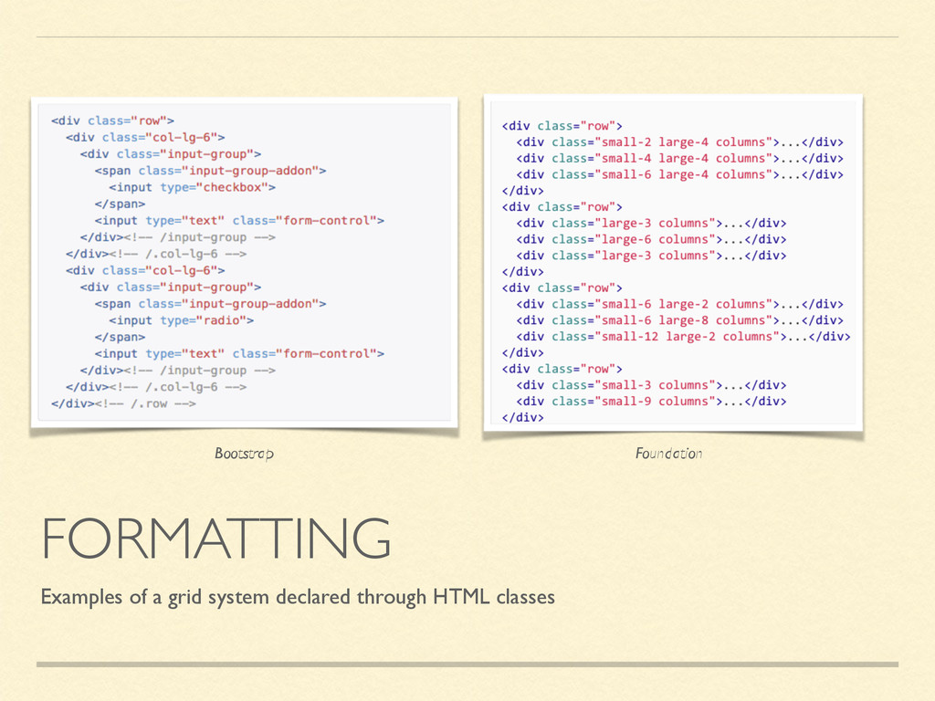 FORMATTING Examples of a grid system declared t...