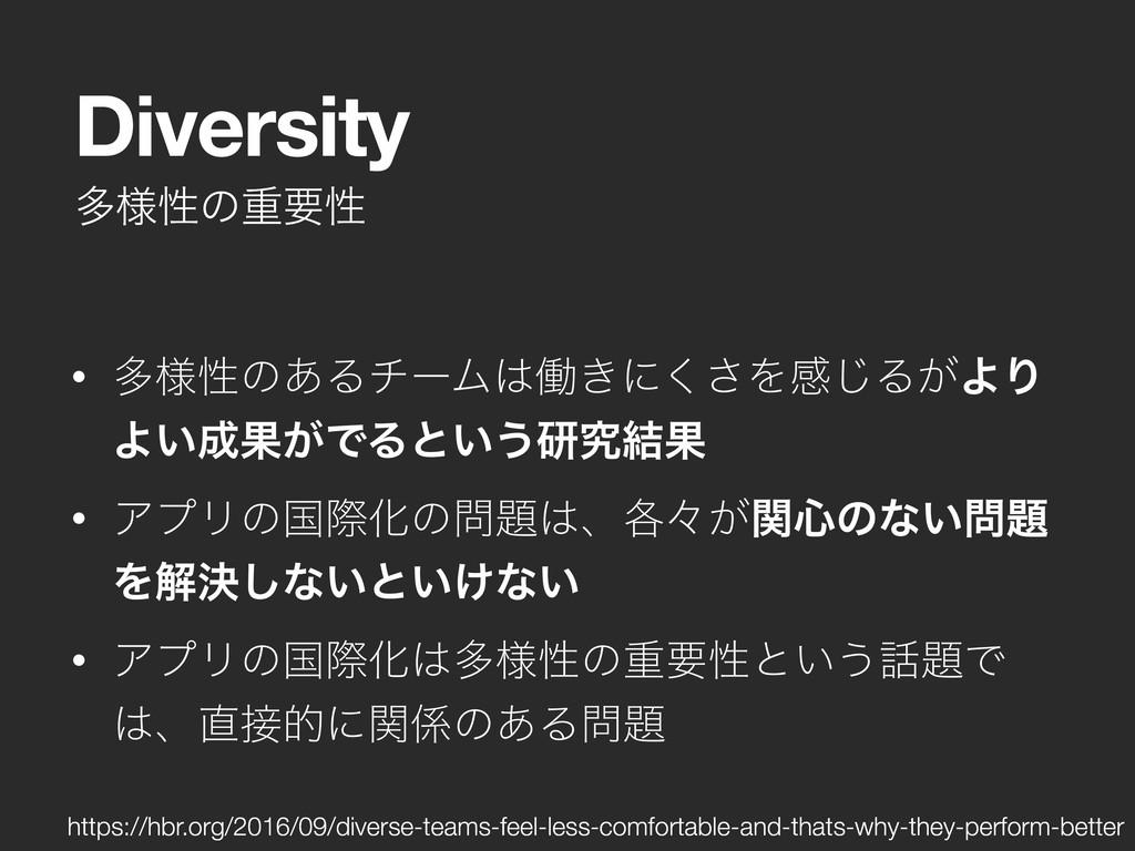 ଟ༷ੑͷॏཁੑ Diversity • ଟ༷ੑͷ͋ΔνʔϜಇ͖ʹ͘͞Λײ͡Δ͕ΑΓ Α͍Ռ...