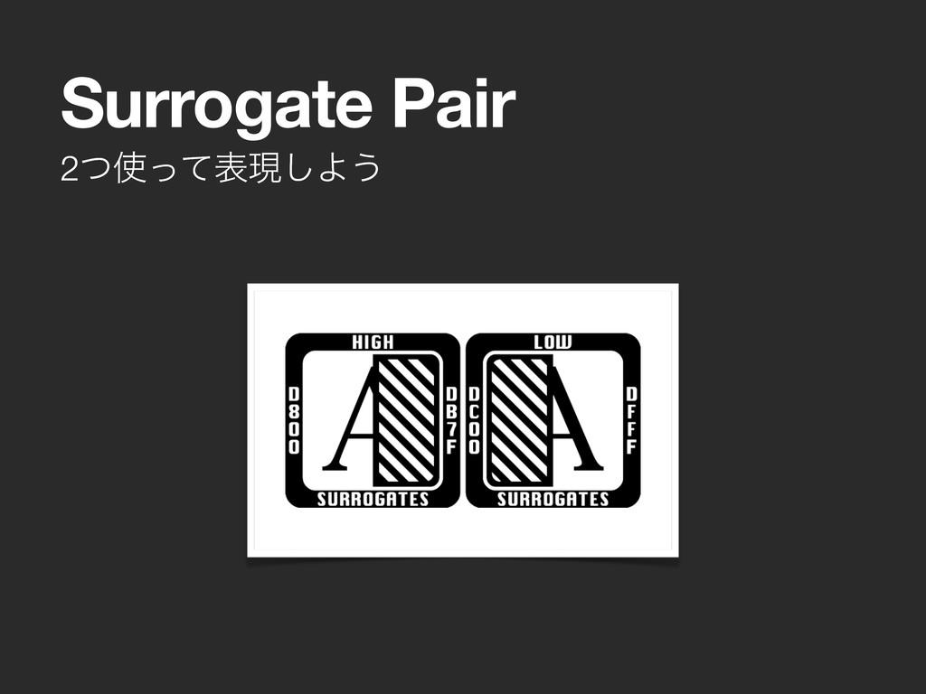 2ͭͬͯදݱ͠Α͏ Surrogate Pair